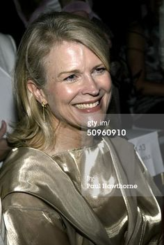 Actress Candice Bergen sits in the front row at the Isaac Mizrahi Fall 2004 Fashion Show at Cipriani 42nd Street June 14, 2004 in New York City. (Photo by Paul Hawthorne/Getty Images)