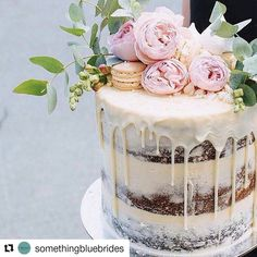 """22 Likes, 2 Comments - @busymomhungryboys on Instagram: """"How pretty is this cake -- #weddings #weddingcakes  #Repost @somethingbluebrides with @repostapp…"""""""