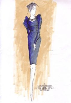 Rachel Roy sketch for Michelle Obama.