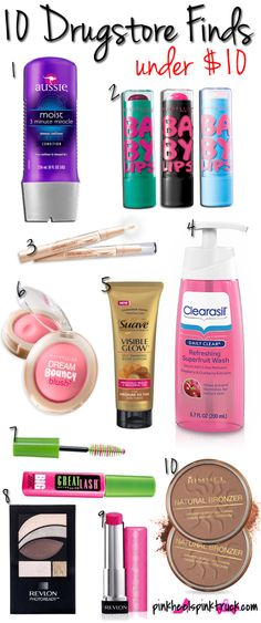 10 Drugstore Finds Under $10! #beautytips #makeup #drugstorebeauty