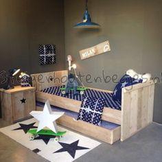 gratis nachtkastje + ledikant + kast + matras + bezorgen + monteren + lattenbodem KAMER BENJAMIN COMPLEET