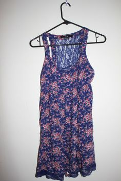 xxi Buttonfront Sundress with Lace Back - $15