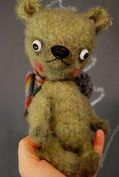 Mohair teddy bear artist designer plush toy by 425sqftart on Etsy, $70.00