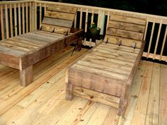 loungers from reclaimed wood