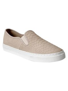 Snakeskin textured slip-on sneakers Product Image
