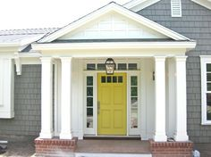 homes with yellow front doors - Google Search