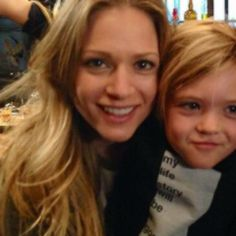 aj cook and her son