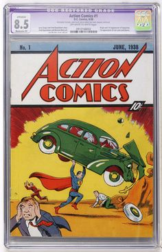 Superman - Action Comics 1 Canvas Wall Art With Back Board - Special Holiday Gift Rare Comic Books, Comic Books For Sale, Comic Book Covers, First Superman, Superman Movies, Superman Action Comics, Superman Comic, Batman, Phil Morris