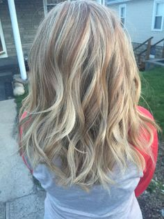 Honey blonde highlights with lowlights