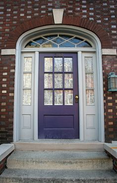 purple front door pictures | Front Doors