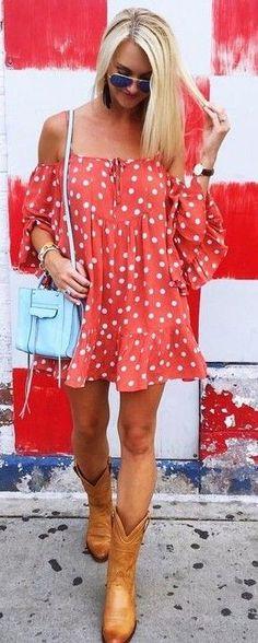 #summer #warm #weather #outfit #ideas | Polka Dot Dress