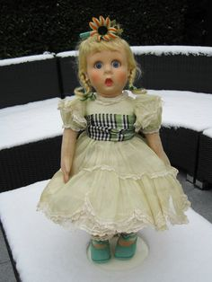 This wonderful doll has been in my collection for many years. She is in beautiful condition and a rare find. Her bloomers are discoloured and there is a faint shadow on the side of her chin. Beautifully painted face and her glass eyes move smoothly. | eBay!