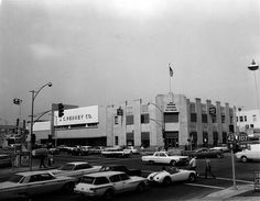 The corner of Manchester and La brea in the 60's J.C penny is now the indoor swapmeet