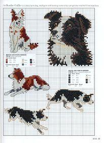 Border Collie Dog Cross Stitch Kit