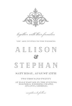 Vintage Embellishments - Wedding Invitation #invitations #printable #diy #template #wedding