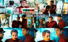 """""""Couldn't just leave you there looking all pathetic"""" Star Trek quote"""