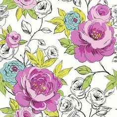 Cassi Pink/Teal wallpaper by Arthouse for powder bath?