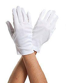 Short White Gloves