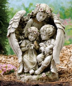 Look at this #zulilyfind! 16'' Angel & Children Garden Statue by Roman #zulilyfinds