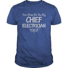 Chief Electrician Voice Shirts #shirt #T-Shirts. PURCHASE NOW => https://www.sunfrog.com/Jobs/Chief-Electrician-Voice-Shirts-Royal-Blue-Guys.html?id=60505