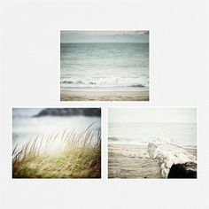 Beach Decor Set, Ocean Art Print Set of 3 Landscape Photographs, Beach Prints, Aqua, Turquoise, Seascape Wall Art, Beach Pictures. on Etsy, $72.00