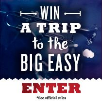 The Big Easy prize package: round-trip airfare for 2, 3 nights at the Roosevelt New Orleans with welcome cocktails and massages, plus $1,000 to eat, drink and let the good times roll! Enter now: tastingtable.com/bigeasygetaway