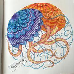 Tropicalwonderland Arttherapy Milliemarotta Colour Colours Colourful Colouring Colouringbook