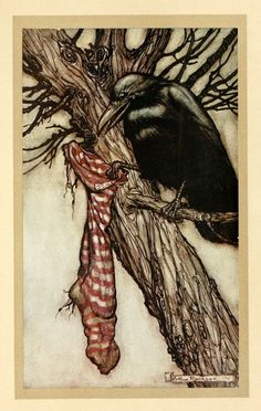 For years he had been quietly filling his stocking, Peter Pan in Kensington Gardens, Arthur Rackham