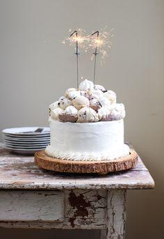 Meringue-Topped Ice Cream Birthday Cake | Simple Bites