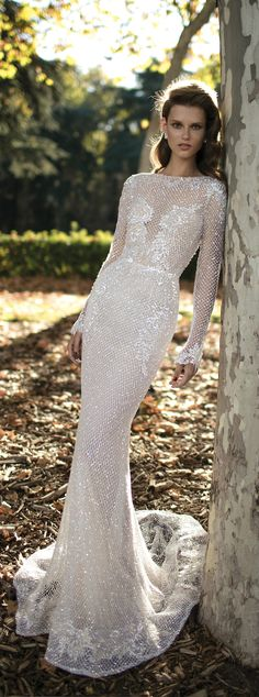 Winter Wedding Dresses - Wedding Dress by Berta Spring 2016 Bridal Collection