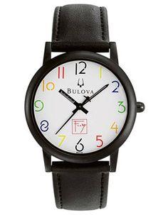 Bulova Frank Lloyd Wright Exhibition Watch - Midsize - Black Leather Strap