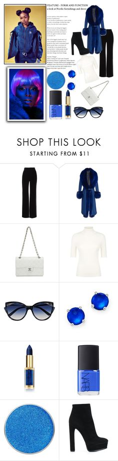 """""""Untitled #334"""" by kabriadarshay on Polyvore featuring Vince, Elie Saab, Chanel, Valentino, La Perla, Ippolita, L'Oréal Paris, NARS Cosmetics and Casadei"""