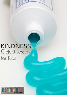 Kindness Object Lesson with Toothpaste Teaching Kids to be Kind - Christian Object Lesson for Kids - Bible Activities for Sunday School Bible Activities For Kids, Kindness Activities, Sunday School Activities, Bible Lessons For Kids, Church Activities, Bible For Kids, Teaching Kindness, Kindness For Kids, Kids Sunday School Lessons
