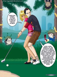 Title: Put-put Golf Description: This artwork is dedicated to [info]arabian , as well as all others who worked so hard on the TBBT episode recaps. The Put-Put Golf Date Penny And Sheldon, The Bigbang Theory, Cartoon Video Games, Pulp Fiction Art, Funny Cartoons, Funny Memes, Manga Comics, Character Description, Big Bang Theory