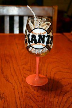 SF Giants Wine Glass