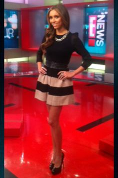 Guliana Rancic always incorporates style into her professional wear!