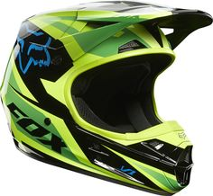 NEW 2014 FOX RACING V1 RACE GREEN HELMET MOTOCROSS SX MX ATV OFF ROAD  MOTORCYCLE Motokrosové edc7e18482