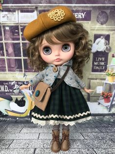 Кукла Блайз, Blythe Doll Одежда для кукол, Clothes for dolls Lolita Fashion, Fashion Dolls, Blythe Dolls, Girl Dolls, Kawaii Doll, Little Doll, Outfits With Hats, Cute Dolls, Ball Jointed Dolls