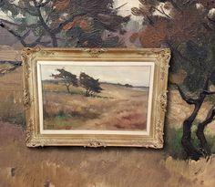 Flämischer Impressionist: Heidelandschaft mit Bäumen. Sign. Ölgemälde LORAND