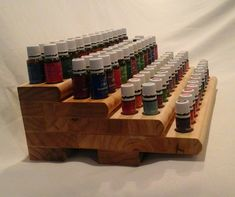 "Image of Stairway Young Living Essential Oil Rack - Unique ""Double Holes"""