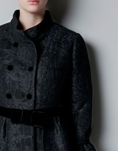 WOOL AND LACE COAT - Coats - Woman - ZARA