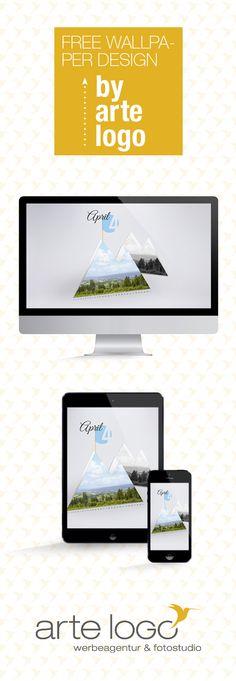 Free Wallpaper for Desktop, iPad and iPhone by arte-logo.de Free Download, Kalender 2016, selfmade, April Hoherodskopf, Vogelsberg, Hessen