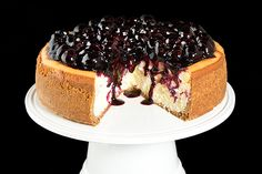 Cherry, strawberry, blueberry - any fruit topping would be delightful with a New York Cheesecake!