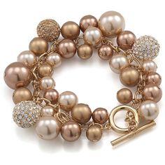 abluedayinmadri:    Carolee bracelet ❤ liked on Polyvore (see more toggle bracelets)