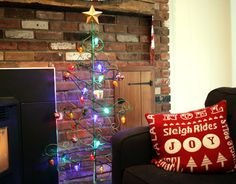 Here's a Christmas tree alternative! Holiday Home Tour Sans the Tree Alternative Christmas Tree, House Tours, Joy, Holiday, Vacations, Being Happy, Holidays Events, Holidays, Vacation
