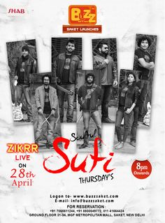 #Tonight Special - Today BUZZ Saket brings you Live Sufi Night with Zikrr.Come & enjoy the magic of Sufi music at Buzz saket and shake a leg to the tunes of soulful Sufi music & be taken on a Sufi ride while you sip on the most lip smacking cocktails and food...Come and meet your soul in Sufi Nights with Zikrr at Buzz saket.. Time:8 pm Onwards  #Thursday #Sufunusic #Soulfulmusic #music #sufi #Zikrr #Beer #Bar #Club #Fun #Friends #Food #Drink #Cocktails #Enjoy