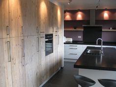 Combinatie die we willen maken: keuken modern gecombineerd met steigerhout (wel met een wit aanrechtblad)