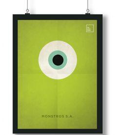 Pôster/Quadro minimalista  Monstros S.A.