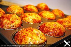 Brunch Recipes Ham and cheese muffins Muffin Recipes, Pizza Recipes, Grilling Recipes, Brunch Recipes, Baking Recipes, Breakfast Recipes, Snack Recipes, Breakfast Pizza, Snacks Pizza