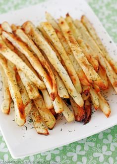 Don't throw out your pickle juice! Save it for making french fries steeped in garlic-dill-pickle flavor! The tastiest fries ever.